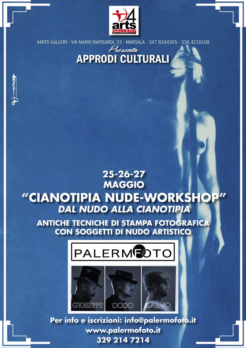 Cianotipia Nude-Workshop, locandina 4ARTS Gallery
