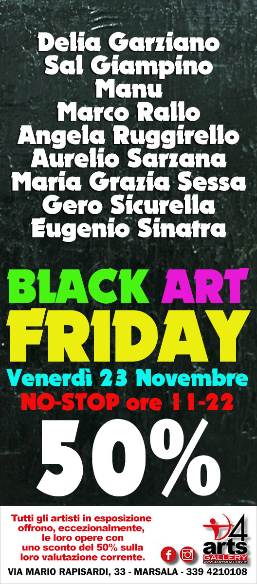 Black Art Friday, locandina 4ARTS Gallery