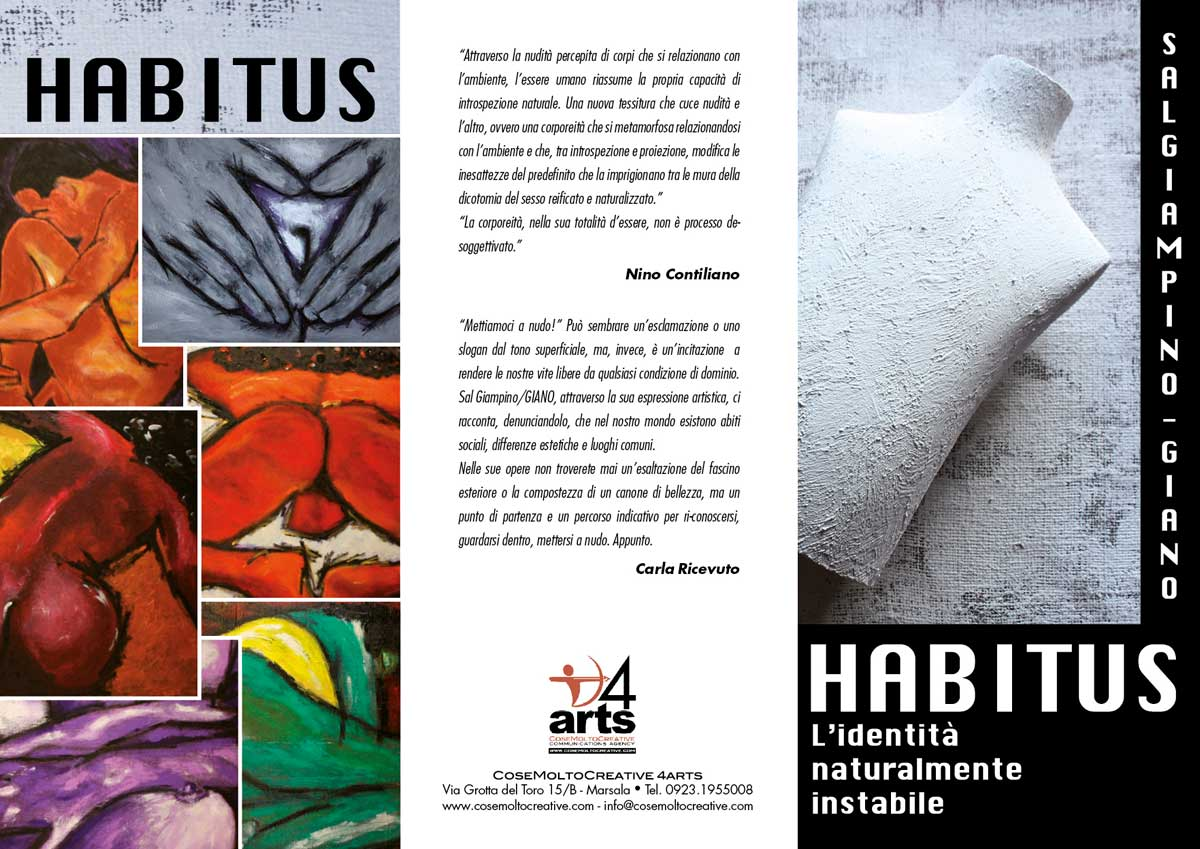 Habitus, depliant 4ARTS Gallery