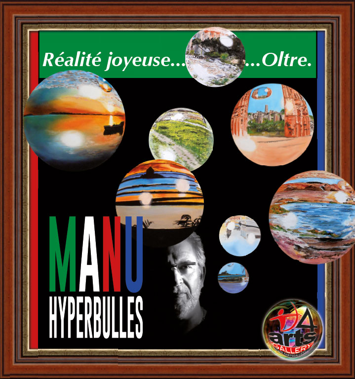 Manu - Hyperbulles, pannello 4ARTS Gallery